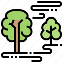 foggy, forest, misty, nature, trees icon