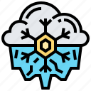 cold, freezing, season, snowflake, winter icon