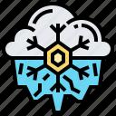 cold, freezing, season, snowflake, winter icon