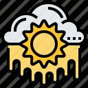 climate, heatwave, hot, summer, sunlight icon