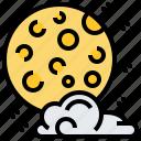 cloud, lunar, moon, night, sky icon