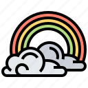 cloud, rainbow, sky, spectrum, spring icon