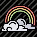 cloud, rainbow, sky, spectrum, spring icon