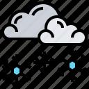 frozen, snowflake, snowing, weather, winter icon