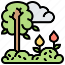 environment, nature, season, spring, trees icon