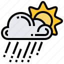 climate, cloud, rain, spring, sun icon