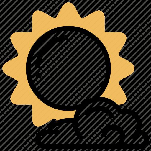 cloud, heatwave, solar, summer, sun icon
