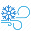 cold, snowflake, weather, wind icon