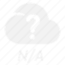cloud, na, rain, weather icon