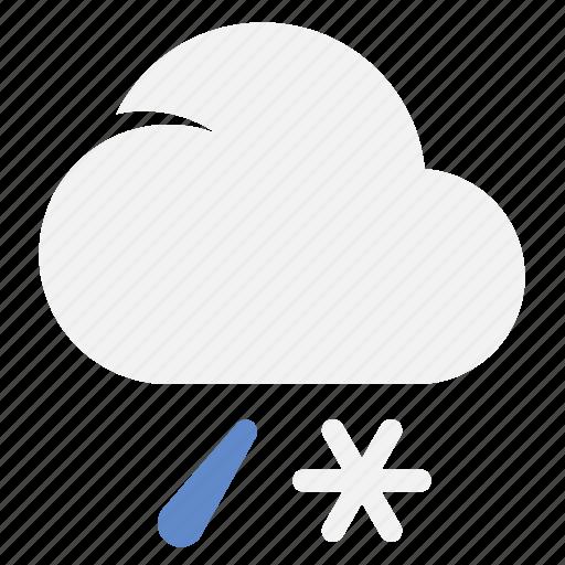 Sleet, ice, rain, weather icon - Download on Iconfinder