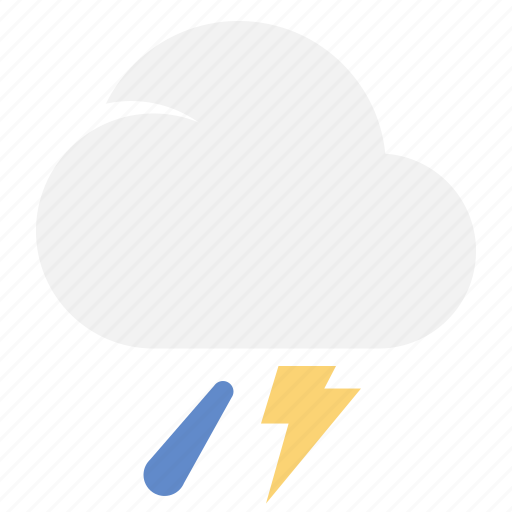 Thundershower, cloud, rain, weather icon - Download on Iconfinder