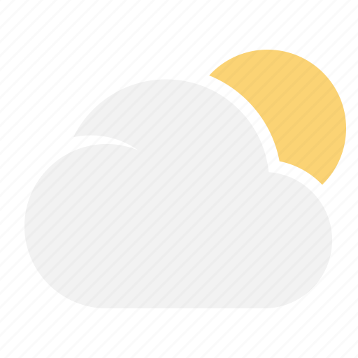 Cloudy, cloud, sun, weather icon - Download on Iconfinder