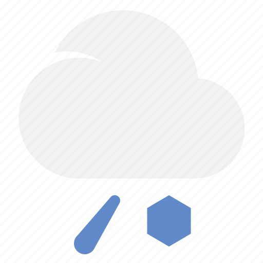 Icerain, cloud, cold, ice, weather icon - Download on Iconfinder