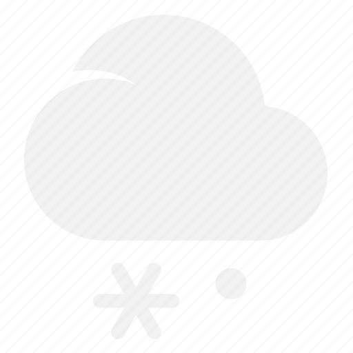 cloud, lightsnow, snow, weather icon