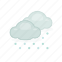 cloud, cloudy, snow, snowing, weather, winter icon