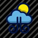 cloud, moon, sun, weather, wind