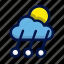 cloud, moon, rain, sun, weather