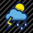 flash, moon, rain, sun, weather