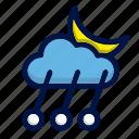 climate, cloud, moon, rain, weather