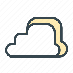 cloud, clouds, forecast, temperature, weather icon
