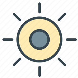 eclipse, forecast, moon, nature, sun, weather icon