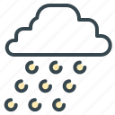 cloud, forecast, hail, snow, weather, winter icon