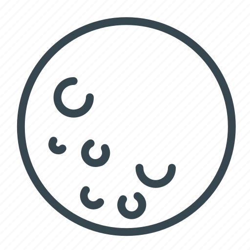 clear, forecast, full, moon, night, weather icon
