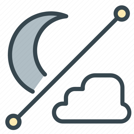 cloud, cloudy, forecast, moon, night, partly, weather icon