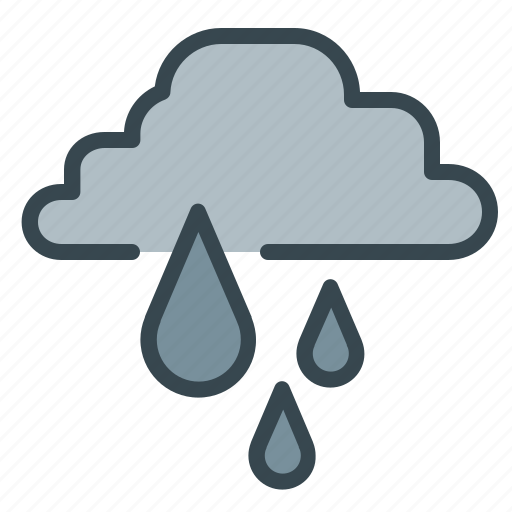 cloud, drops, forecast, rain, weather icon