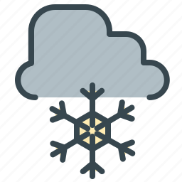 cloud, forecast, snow, snowflake, weather, winter icon