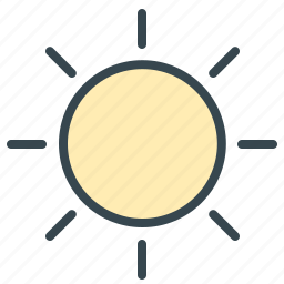 forecast, heat, hot, summer, sun, sunny, weather icon
