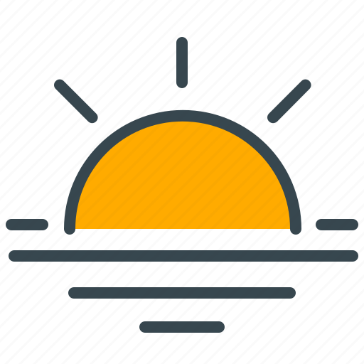 forecast, sun, sunrise, sunset, weather icon