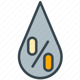 drop, forecast, humidaty, percentage, water, weather icon