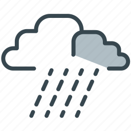 cloud, forecast, rain, storm, weather icon