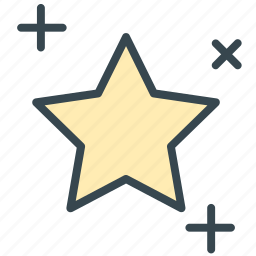 clear, forecast, night, stars, weather icon