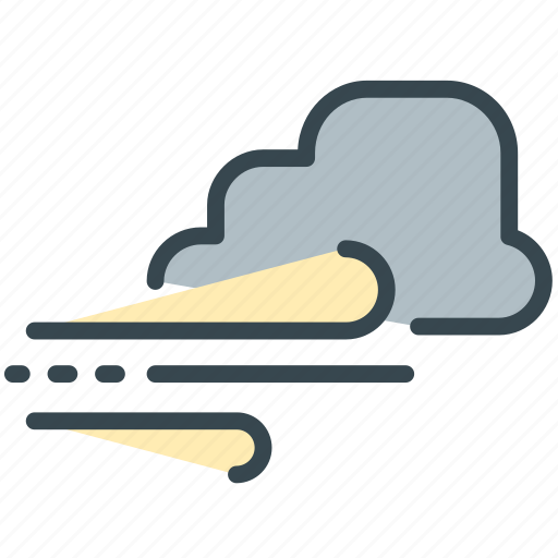 cloud, forecast, storm, weather, windy icon