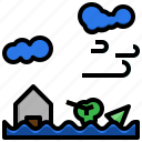 disaster, ecology, environment, flood, flooded, house, inundation