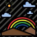 atmospheric, clouds, miscellaneous, rainbow, spectrum