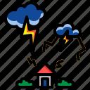 cloudy, night, rain, storm, thunder
