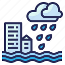 weather, flood, rain, rainy