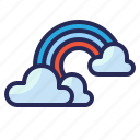 weather, rainbow, cloudy, cloud, sky
