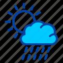 sunny, sun, rain, weather