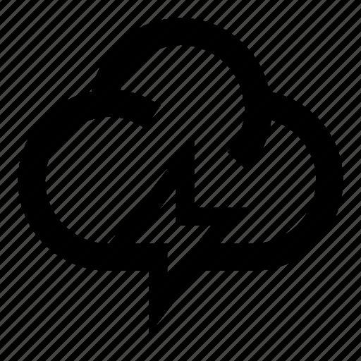 cloud, flashlight, forecasting, storm, weather, weather forecast icon