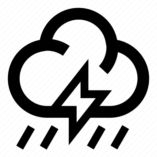 cloud, flashlight, forecasting, rain, rainy, storm, weather icon
