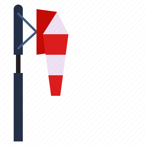 calm, weather, wind, windsock icon