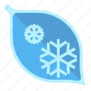 cold, hoarfrost, leaf, weather icon