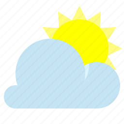 cloud, partly cloudy, sun, weather icon