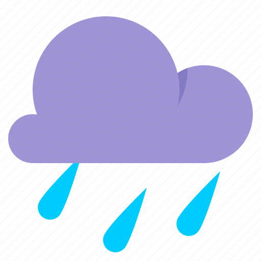 cloud, light rain, rain, weather icon