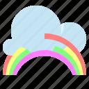 cloud, rainbow, sky, weather