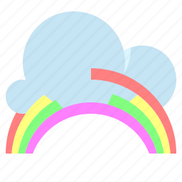 cloud, rainbow, sky, weather icon